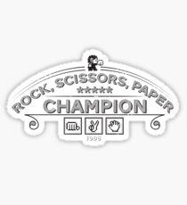 Rock scissors paper Champion - Kidd Sticker