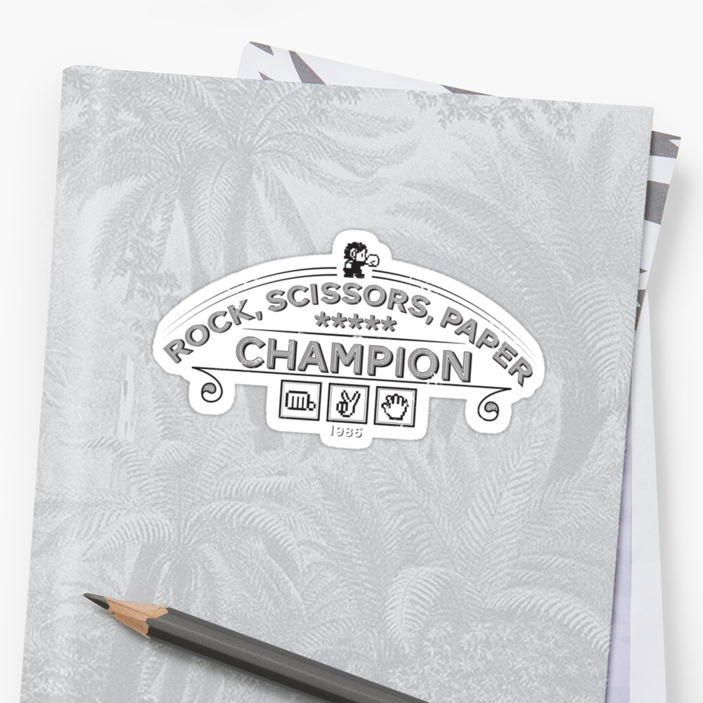 Rock scissors paper Champion - Kidd by GordonBDesigns
