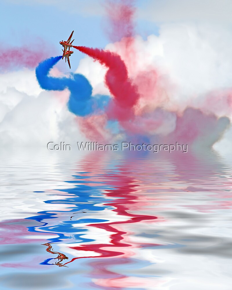 Flood Break - The Red Arrows by Colin  Williams Photography