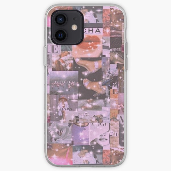 lindo collage rosa y2k Funda blanda para iPhone