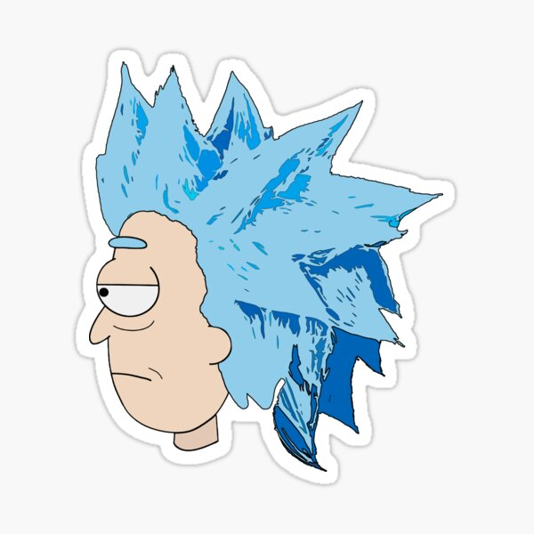 Rick Sanchez Cool Wig Sticker