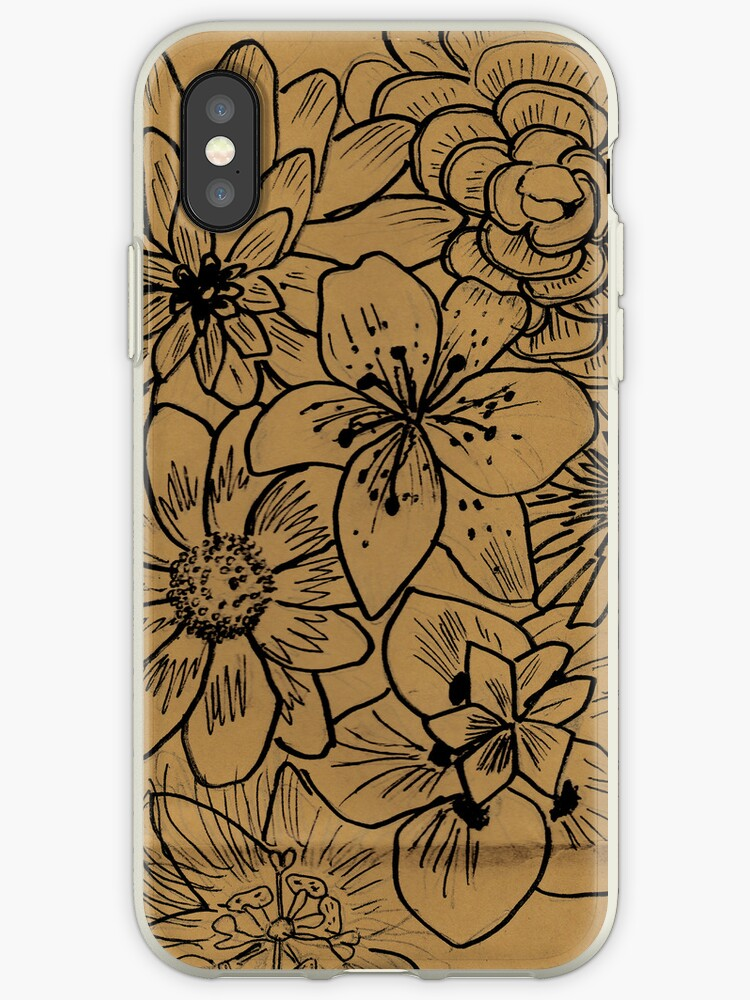 brown flower illustration by aiaiou