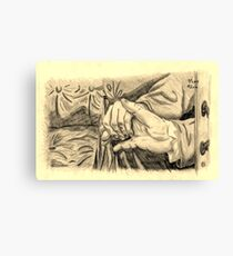 Hands in sepia Canvas Print