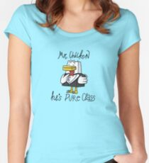 Mr. Chicken - Pure Class Edition Women's Fitted Scoop T-Shirt