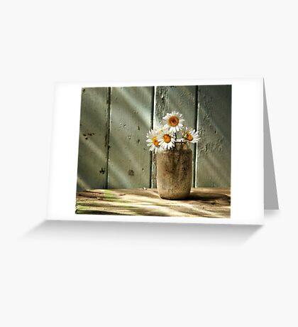 A Jar of Daisies Greeting Card