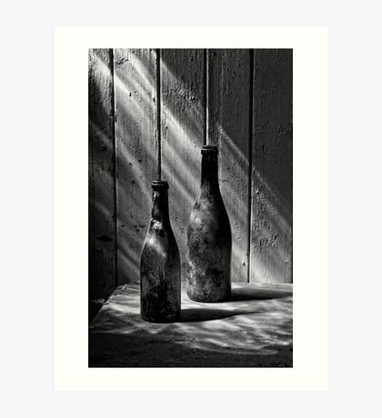 Old Wine Bottles Art Print