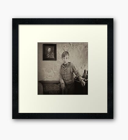 Waiting for Father to return Framed Print