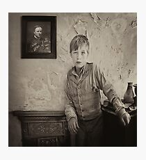 Waiting for Father to return Photographic Print