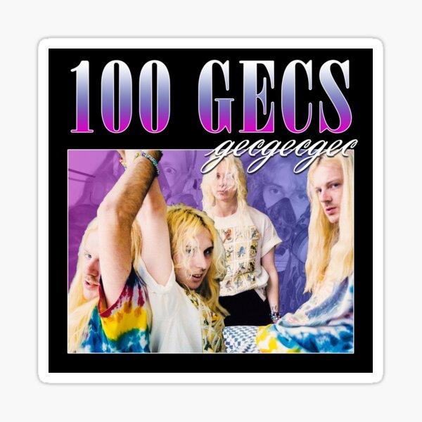 100 GECS 90'S RETRO STYLE TEE Sticker