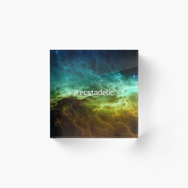 #ecstadelic Acrylic Block