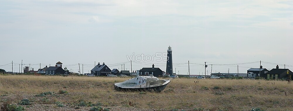 The Lighthouse On The Beach Dungeness. by victor55