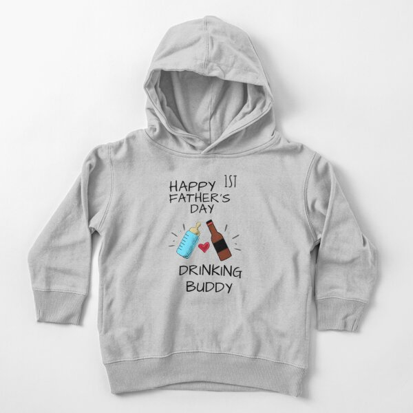 Happy 1st Father's Day Toddler Pullover Hoodie