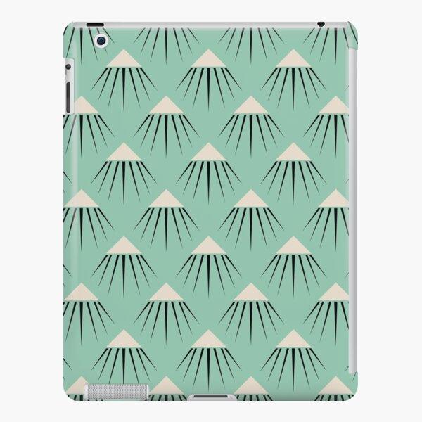 Art Deco Snow Capped Mountain Peaks iPad Snap Case
