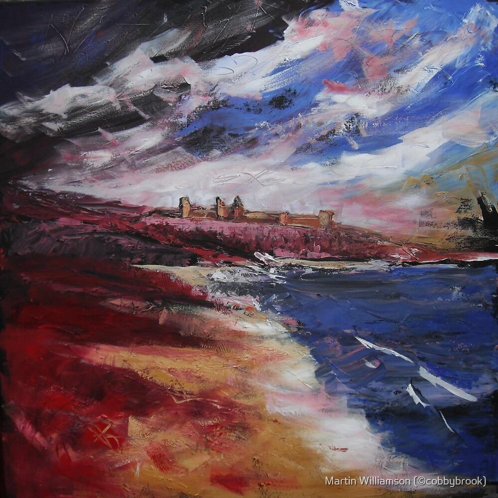 'Northumbrian Coast, Dunstanburgh' by Martin Williamson (©cobbybrook)