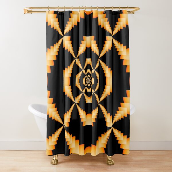 Motif, Visual arts, Beadwork, Psychedelic Shower Curtain