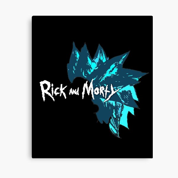 Rick and Morty with Rick Sanchez Cool Wig Dark Edition Canvas Print