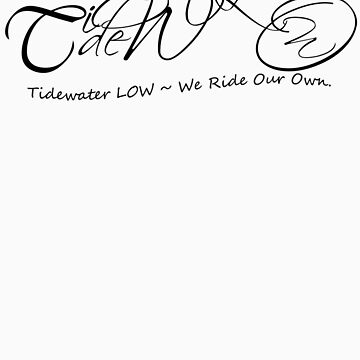 Pink or White Tidewater LOW Chopper T-shirt & Stickers by haliehovenga