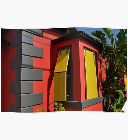 Colorful House in Nassau, The Bahamas Poster