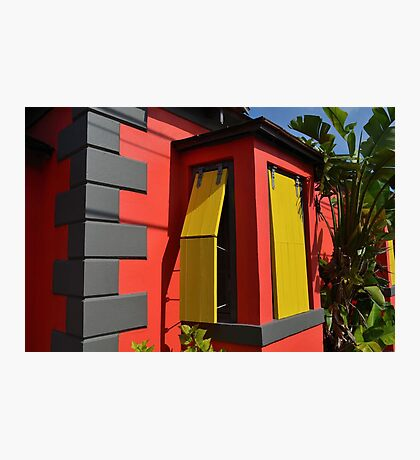 Colorful House in Nassau, The Bahamas Photographic Print