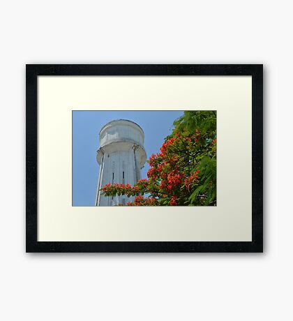 Water Tower in Nassau, The Bahamas Framed Print