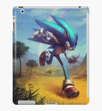 "Sonic the Hedgehog Fan Art - ""Time Doesn't Wait"" iPad Case/Skin"