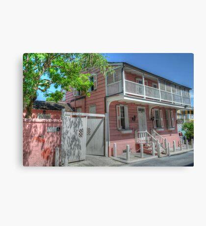 Balcony House in Nassau, The Bahamas Canvas Print