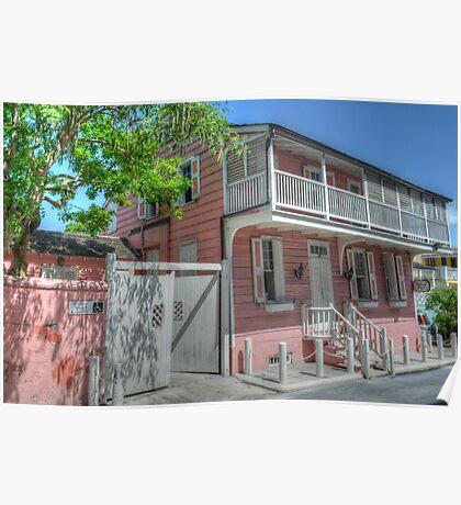 Balcony House in Nassau, The Bahamas Poster