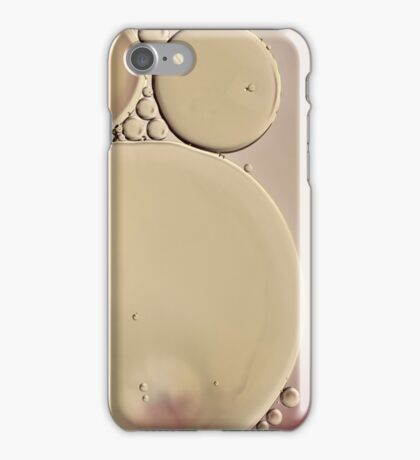 a hint of dusty pink - oil and water abstract iPhone Case/Skin
