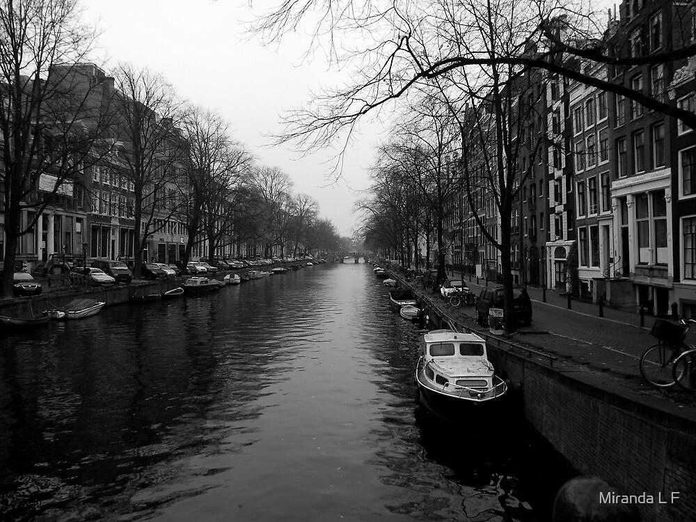 boat of Amsterdam by Miranda L F