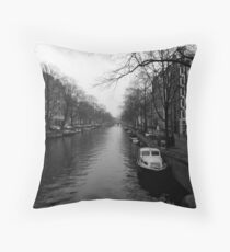 boat of Amsterdam Throw Pillow