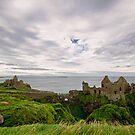 Dunluce Castle Wide View by Michelle McMahon