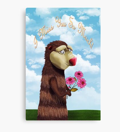 I Miss You Critter Canvas Print