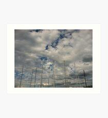 Masts Art Print