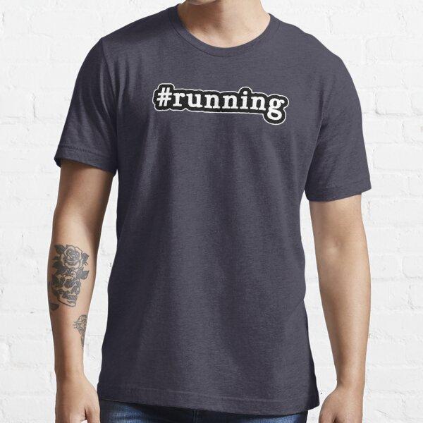Running - Hashtag - Black & White Essential T-Shirt