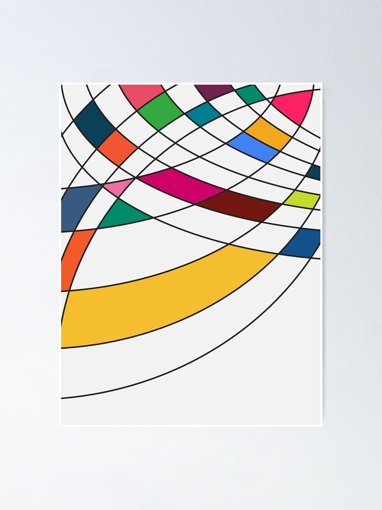 Alternate view of Asymmetrical Curves Poster