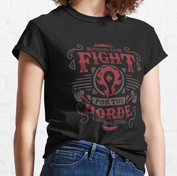 Fight for the Horde - Gaming Rpg - Vintage art Camiseta clásica