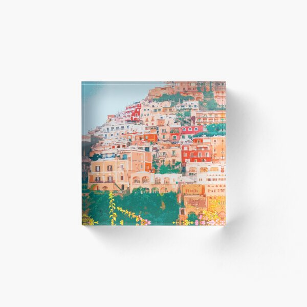 Positano, beauty of Italy Acrylic Block