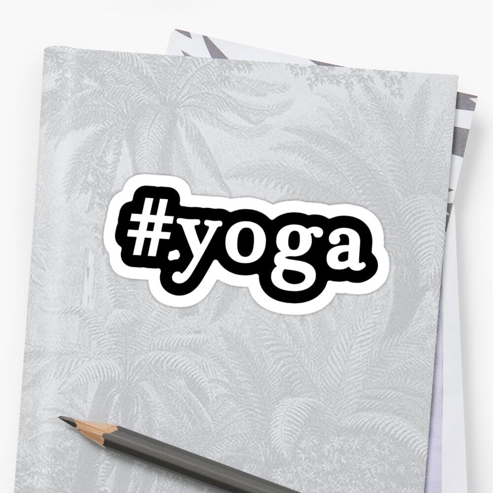 Yoga - Hashtag - Black & White by graphix