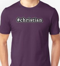 Christian - Hashtag - Black & White T-Shirt