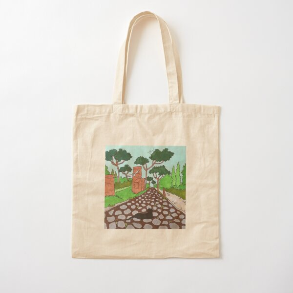 Journal of a Cat in Rome - Appia Antica Cotton Tote Bag