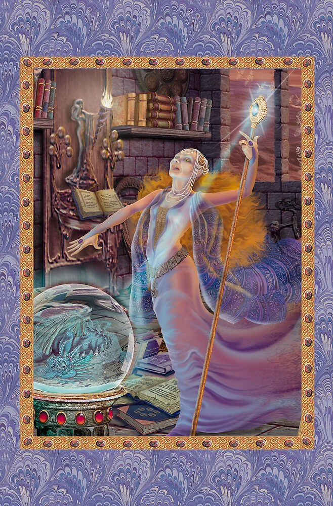 Fairy Dreams greeting card 3 by Carol McLean-Carr