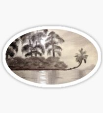 Moonlight Upon The River Sticker
