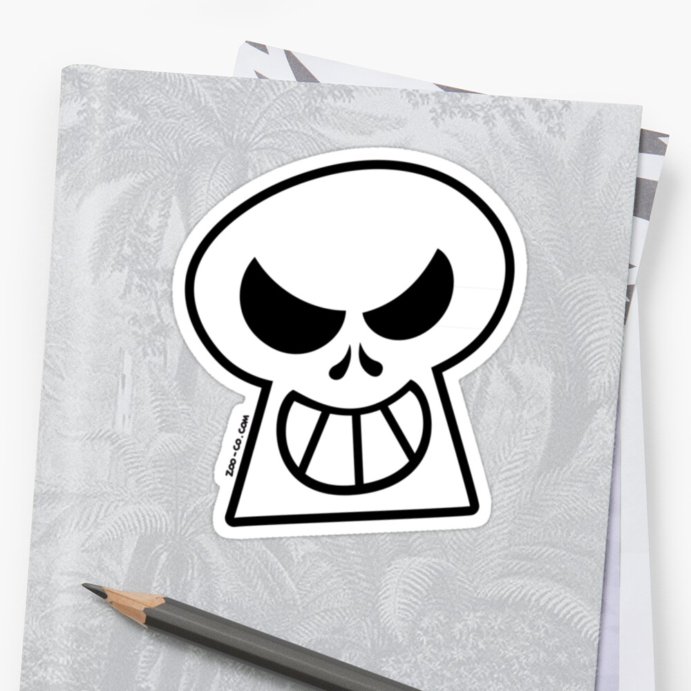 "naughty halloween skull"" stickerszoo-co 