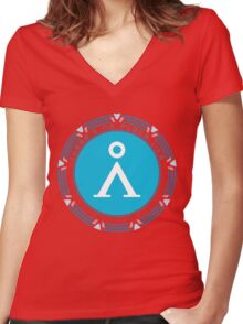There's No Place Like Home Women's Fitted V-Neck T-Shirt