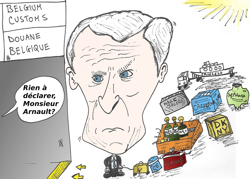 Caricature de Bernard ARNAULT by Binary-Options