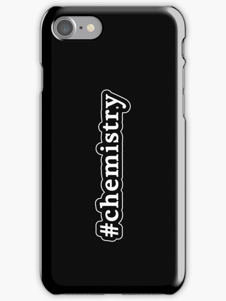 Chemistry - Hashtag - Black & White by graphix
