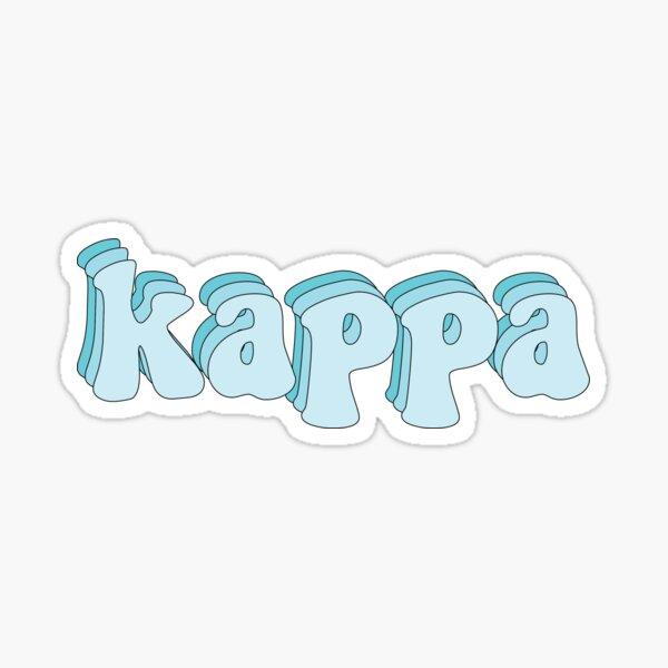 Kappa Blue Sticker