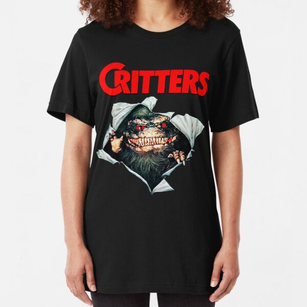 Critters - Busting Out(1986)☆VHSGasm Video☆  | HORROR MERCH Slim Fit T-Shirt