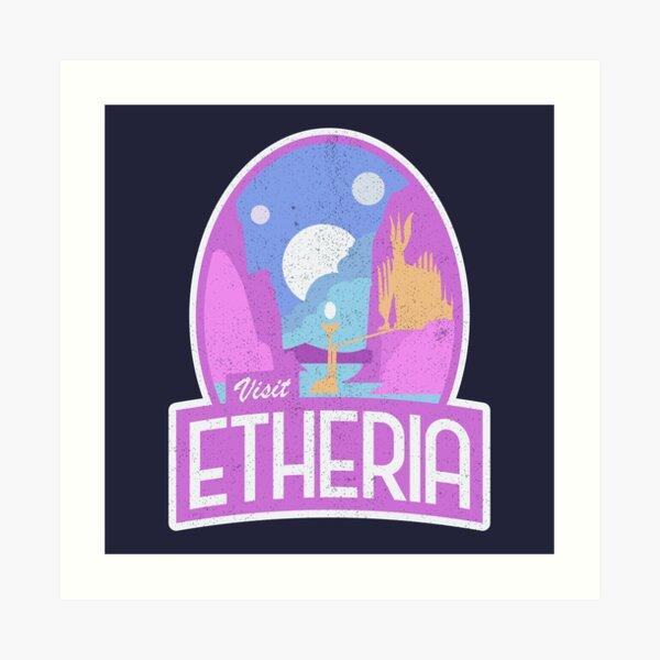 """Visit Etheria"" She-Ra Logo Art Print"