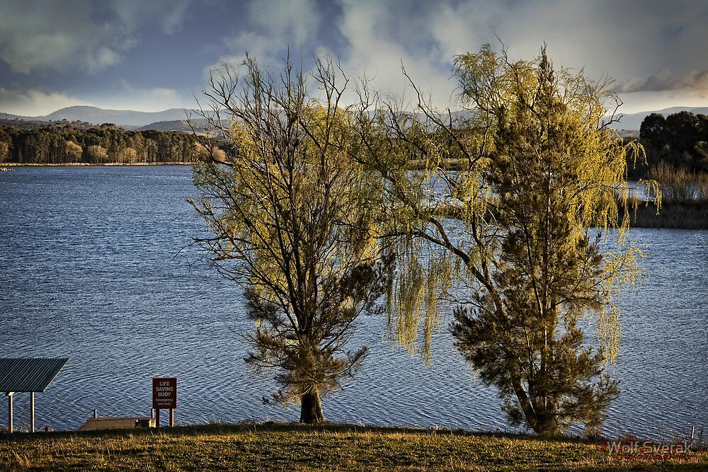 Lake Burley Griffin by Wolf Sverak